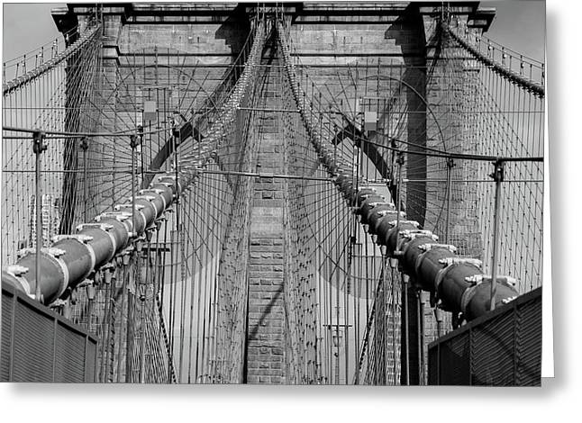Greeting Card featuring the photograph Brooklyn Bridge by Emmanuel Panagiotakis
