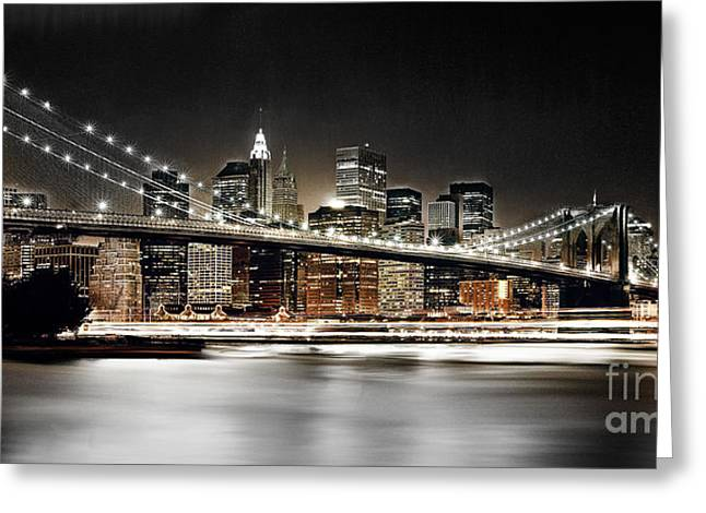Brooklyn Bridge  Greeting Card by Gull G