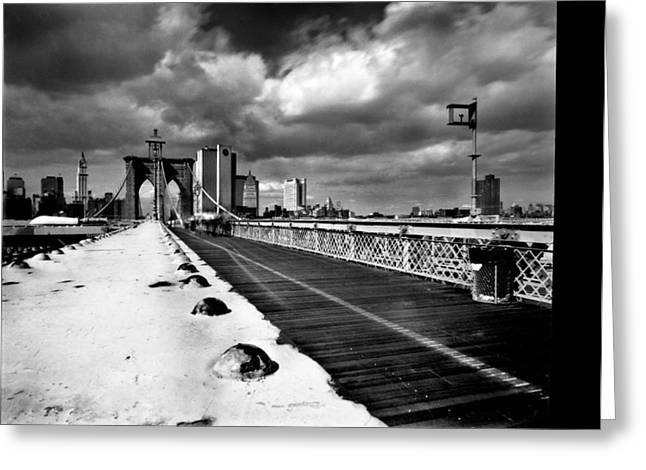 Brooklyn Bridge Greeting Card by Luca Baldassari