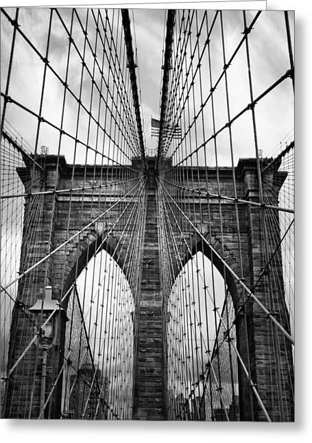 Brooklyn Bridge Mood Greeting Card