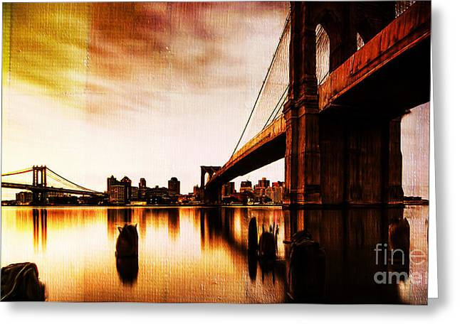 Brooklyn Bridge Ny 01 Greeting Card