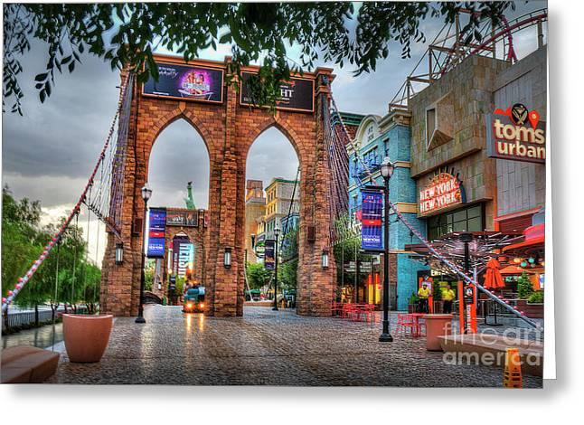 Brooklyn Bridge Ny Ny Las Vegas Greeting Card