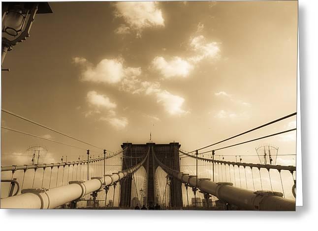 Brooklyn Bridge Greeting Card by Patrick  Flynn