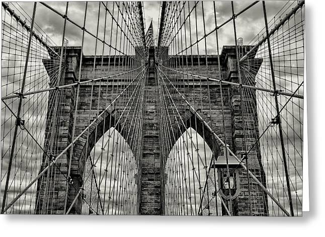 Brooklyn Bridge Greeting Card by Stephen Stookey