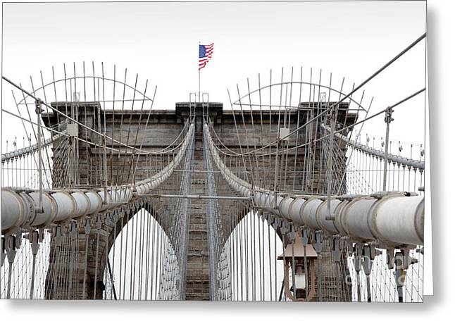 Brooklyn Bridge Top Greeting Card