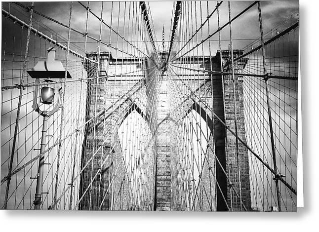 Brooklyn Bridge Greeting Card by Vivienne Gucwa