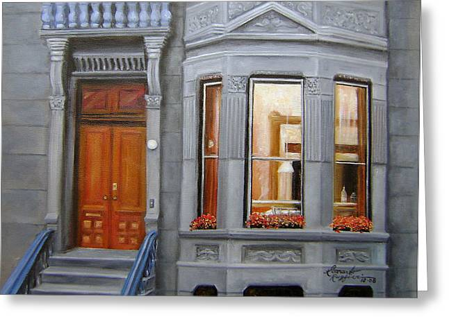 Brooklyn Brownstone Window Greeting Card