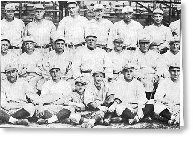 Brooklyn Dodger Champions Greeting Card by Underwood & Underwood
