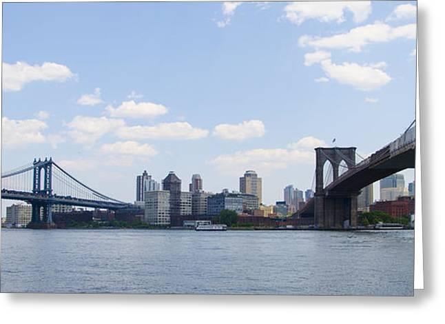 Brooklyn New York From Manhattan Greeting Card by Bill Cannon