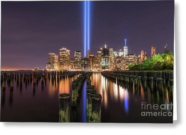 Brooklyn Sticks September 11th Memorial  Greeting Card by Michael Ver Sprill