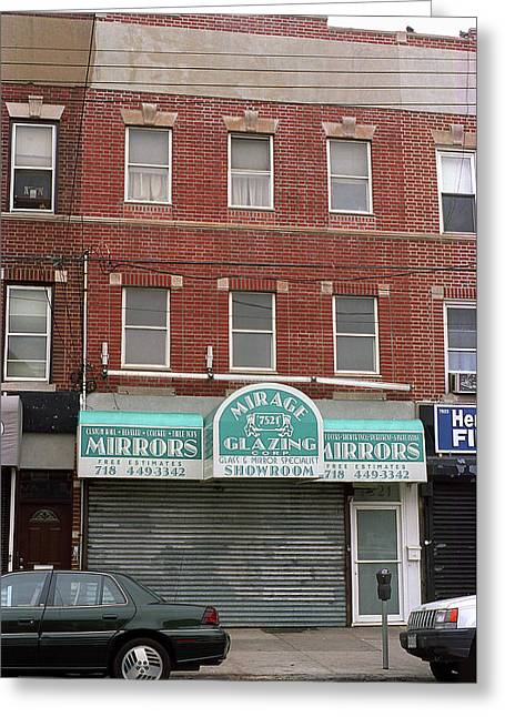 Brooklyn Storefront And Apartments 2001 Greeting Card