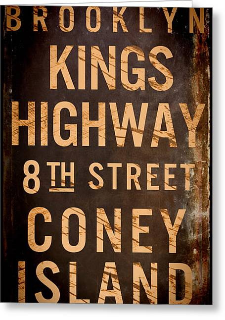 Brooklyn Street Sign Greeting Card by Mindy Sommers