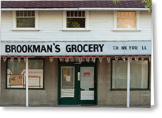 Brookman's Grocery Greeting Card by Charlette Miller