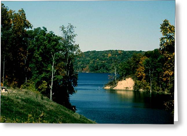 Greeting Card featuring the photograph Brookville Lake Brookville Indiana by Gary Wonning