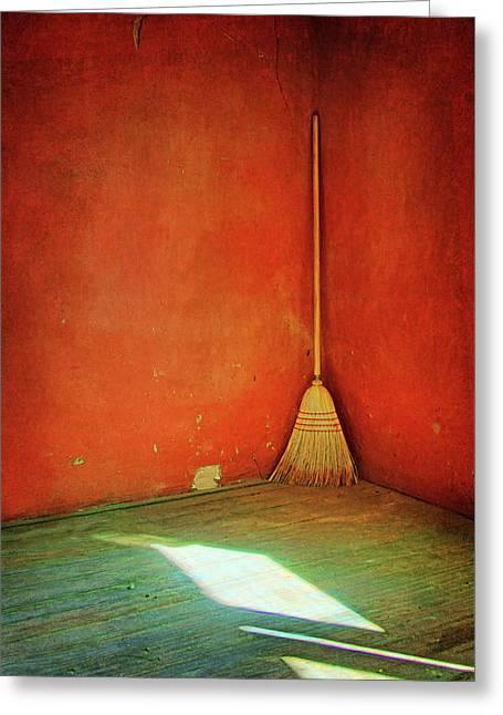 Broom Greeting Card by Nikolyn McDonald