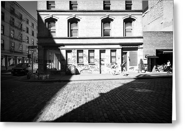 Greeting Card featuring the photograph Broome Street Nyc by Dave Beckerman