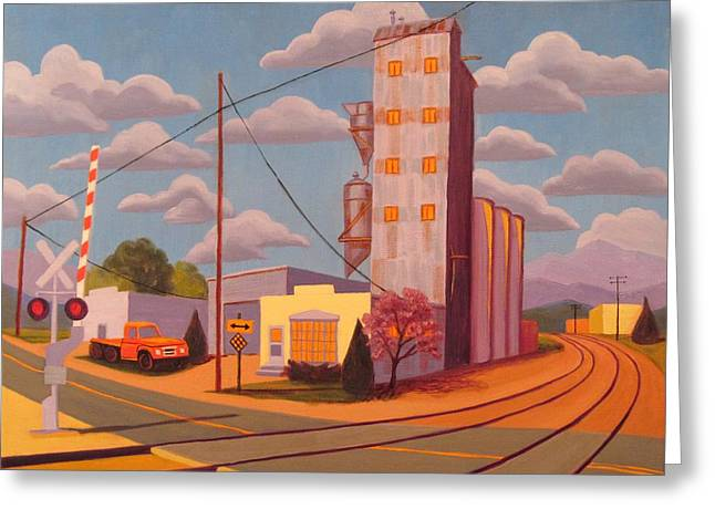 Broomfield Grain Elevator Greeting Card