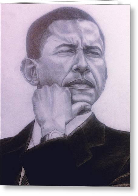 Brotha President Greeting Card by Malik Seneferu