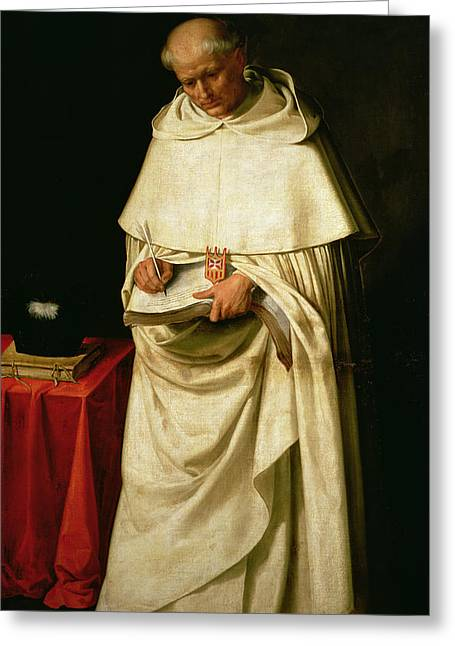 Brother Pedro Machado Greeting Card by Francisco de Zurbaran