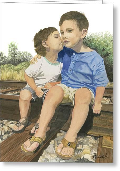 Brotherly Love Greeting Card
