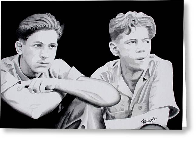 Brothers Greeting Card by Ferrel Cordle