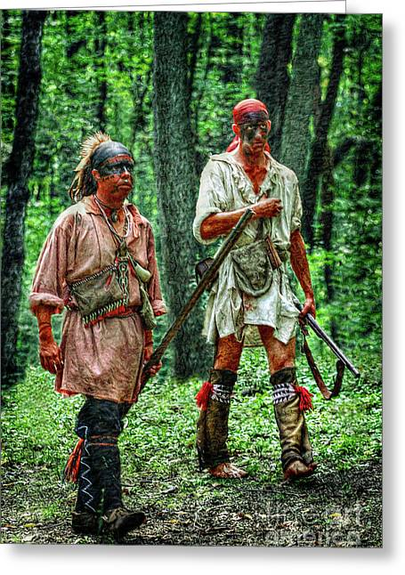 Six Nations Greeting Cards - Brothers of the Forest Greeting Card by Randy Steele