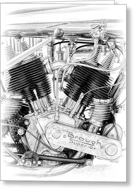 Brough Superior Engine Greeting Card