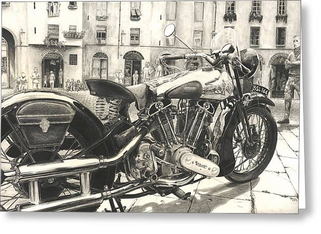 Brough Superior Ss 100 Greeting Card by Norman Bean