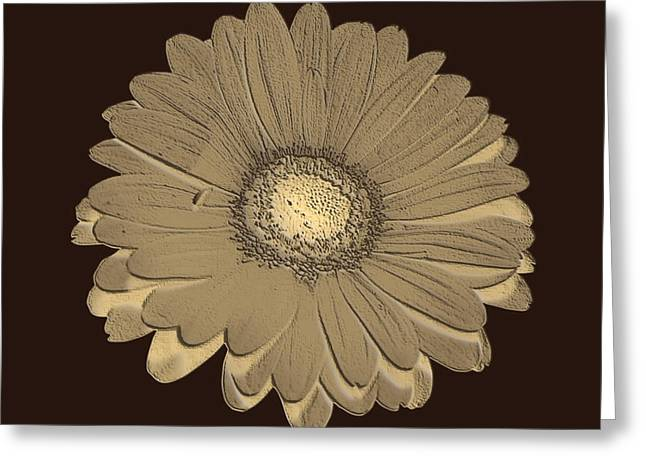 Greeting Card featuring the digital art Brown Art by Milena Ilieva