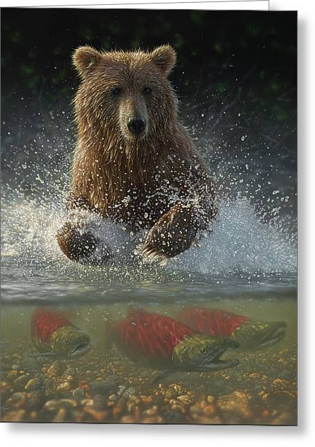 Brown Bear - Lucky Hole Greeting Card
