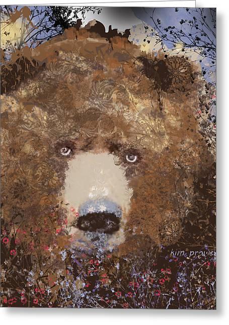 Visionary Bear Final  Greeting Card