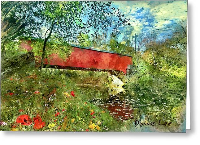Brown County, Indiana - Covered Bridge Greeting Card by Dave Lee