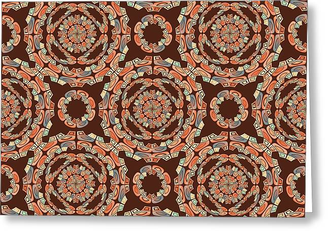 Brown Decorative Pattern Greeting Card