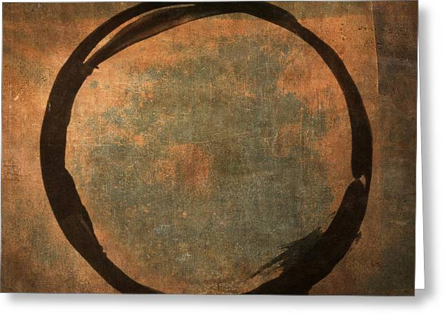Brown Enso Greeting Card