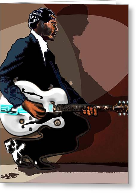 Brown Eyed Handsome Man-chuck Berry Greeting Card