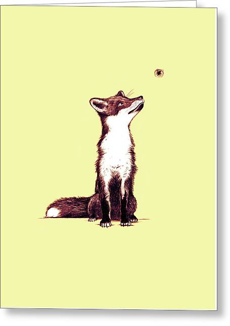 Brown Fox Looks At Thing Greeting Card