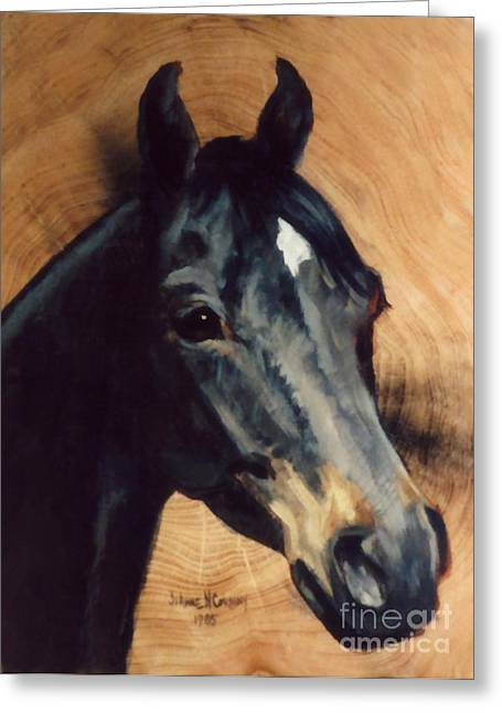 Brown Horse  Tingeys Star Greeting Card by JoAnne Corpany