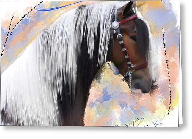 Gypsy Greeting Cards - Brown Ice Gypsy Vanner Greeting Card by Donald Pavlica