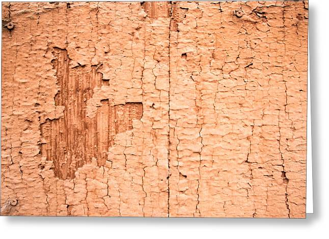 Brown Paint Texture Greeting Card by John Williams