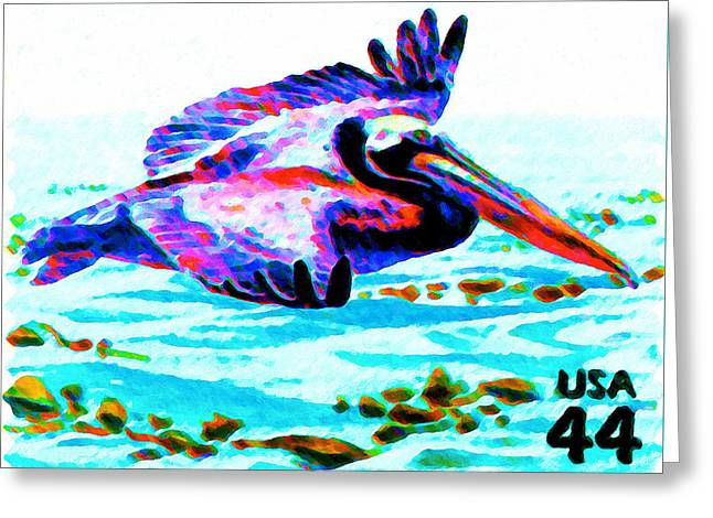 Brown Pelican Greeting Card by Lanjee Chee