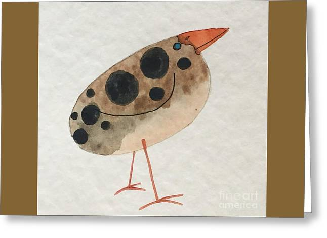 Brown Spotted Bird Greeting Card