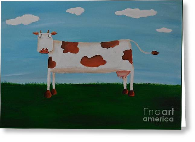 Brown Spotted Cow Greeting Card