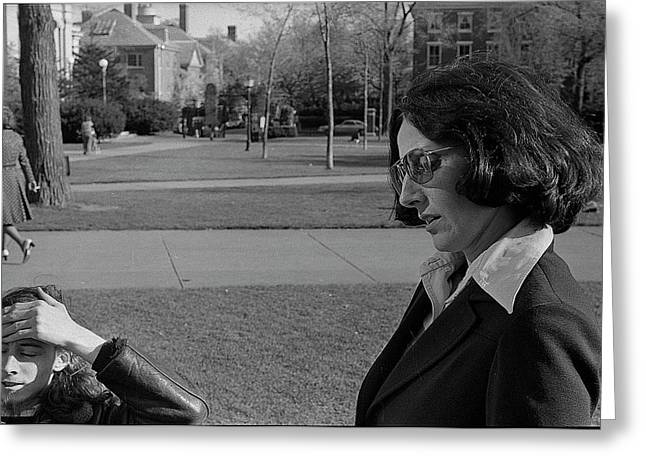 Brown University Student And His Mother, 1975 Greeting Card