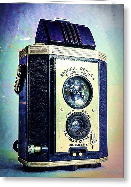 Brownie Reflex Greeting Card by Jon Woodhams