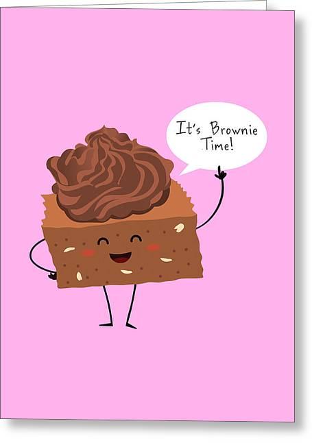 Brownie Time Greeting Card by Ana Villanueva