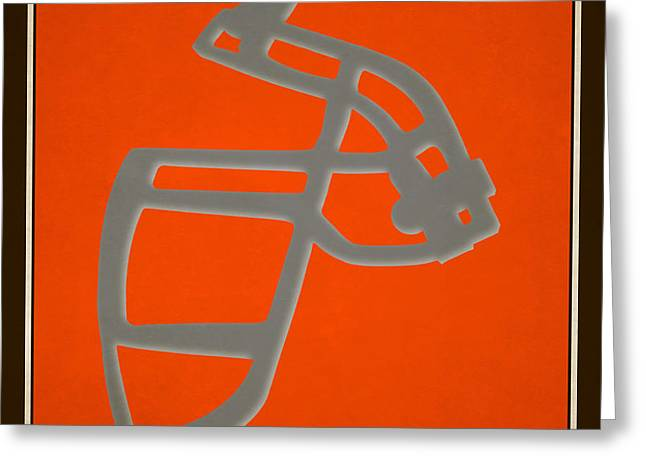 Browns Face Mask Greeting Card by Joe Hamilton