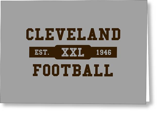 Browns Retro Shirt Greeting Card by Joe Hamilton