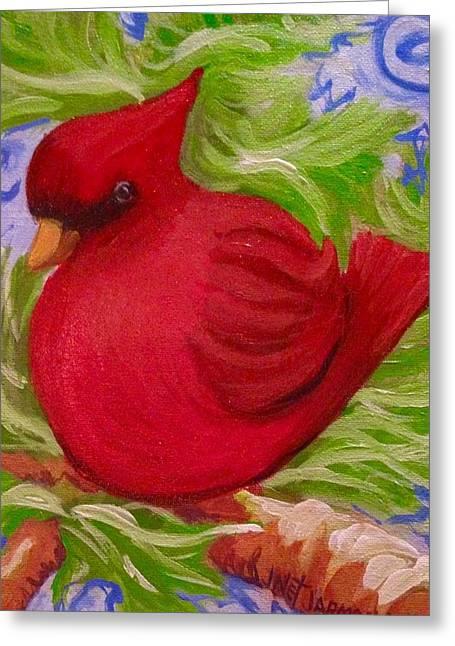 Brrr Bird Greeting Card
