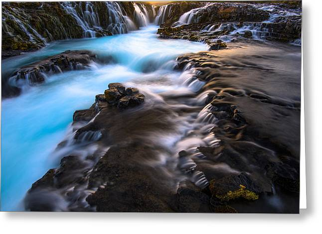 Bruarfoss Iceland Greeting Card by Joseph Rossbach
