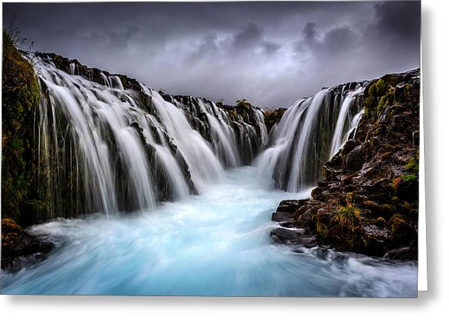 Bruarfoss Greeting Card by Sus Bogaerts